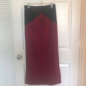 Lily White geometric maxi skirt with side split